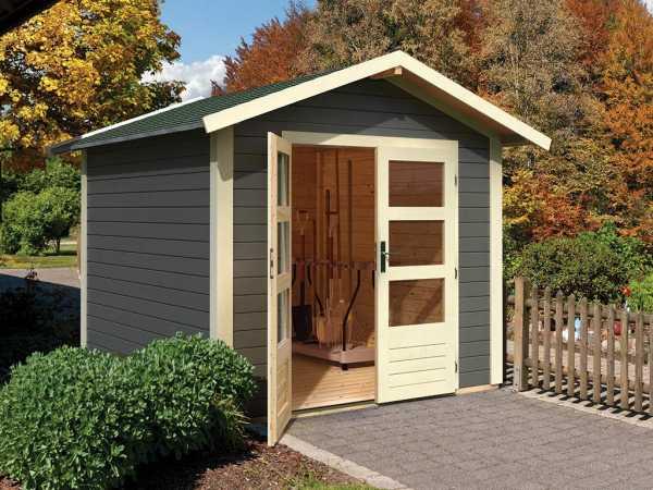 Gartenhaus Tamm 4 28 mm terragrau