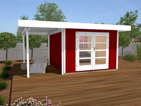 Gartenhaus Designhaus 126 Plus A Gr. 1 schwedenrot