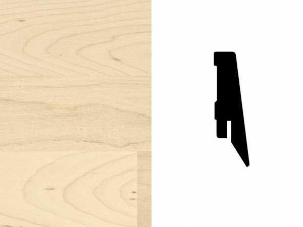 Sockelleiste Ahorn europäisch / kanadisch Furnier Profil SKL 60