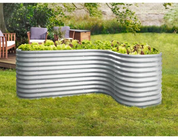 Erweiterung Curve für Hochbeet Vitavia, Aluminium-Blank