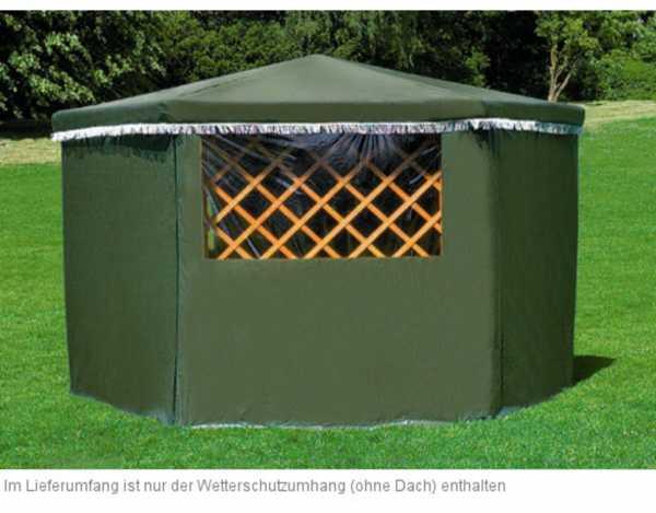 wetterschutzumhang f r pavillon marburg pavillon zubeh r holzpavillon garten holzprofi24. Black Bedroom Furniture Sets. Home Design Ideas
