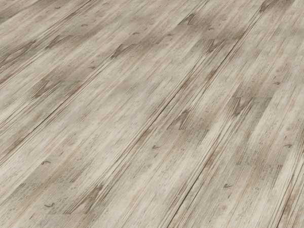 Vinylboden Alteiche grau Vinyl-Click auf HDF + Keramik Landhausdiele