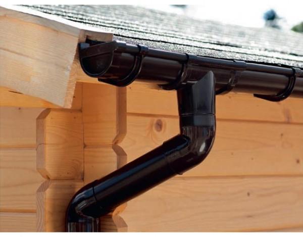 Regenrinne für Satteldach, 3 m
