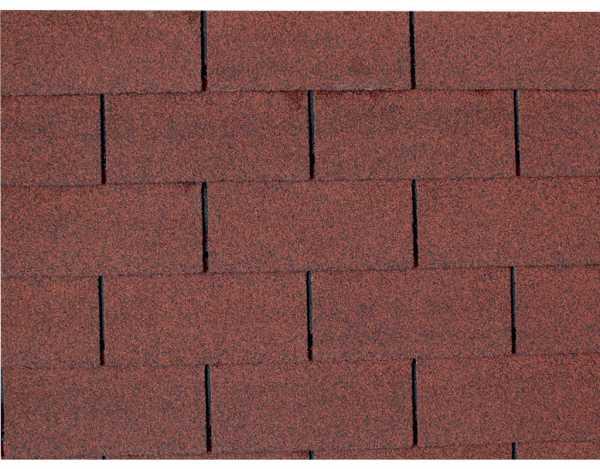 Dachschindeln für Gartenhaus und Pavillon rot