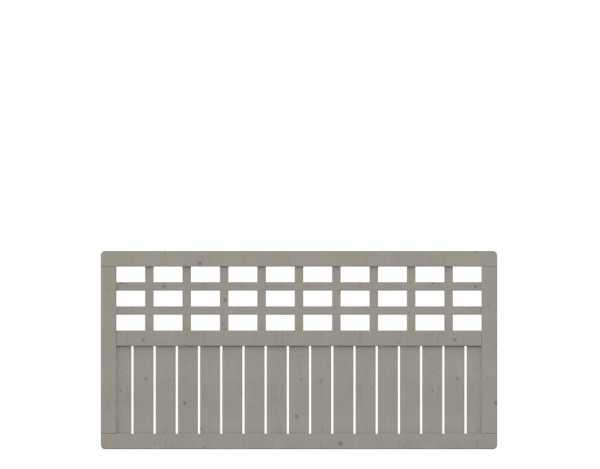 "Sichtschutzzaun ""COMO"" Rechteck mit Gitter grau"