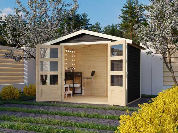 Gartenhaus Carlton 3 19 mm terragrau