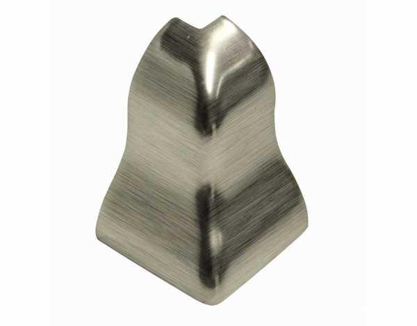 Außenecken für Sockelleisten Profil SKL 20, Silber gebürstet