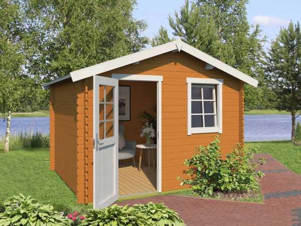 Gartenhaus Blockbohlenhaus Daan 250 28 mm eiche