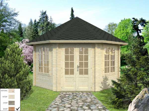 Pavillon Hanna 14,1 m² braun tauchimprägniert