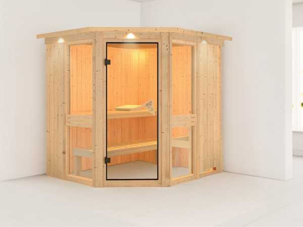Sauna Systemsauna Amelia 1 mit Dachkranz