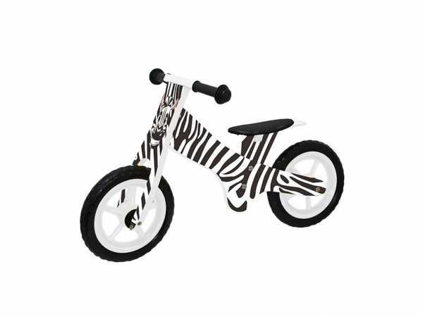 Lernlaufrad Zebra Weiß / Schwarz