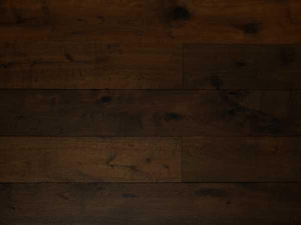 Parkett Eiche rustikal dunkel geräuchert geölt Landhausdiele gebürstet