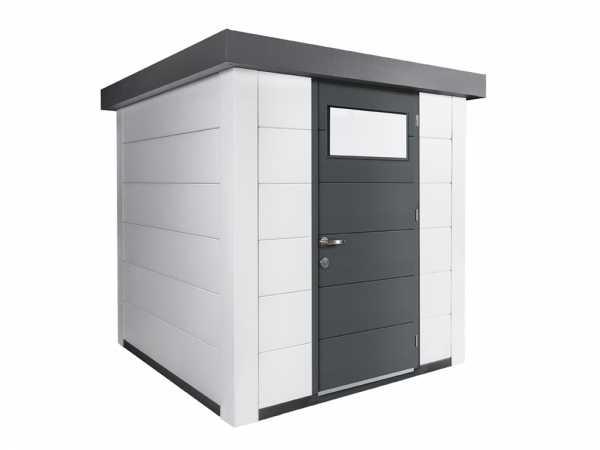 Gerätehaus aus Metall Eleganto 2121 Weiß