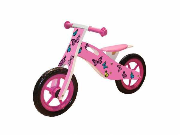 """Lernlaufrad """"Schmetterlinge"""" Pink / Weiß"""