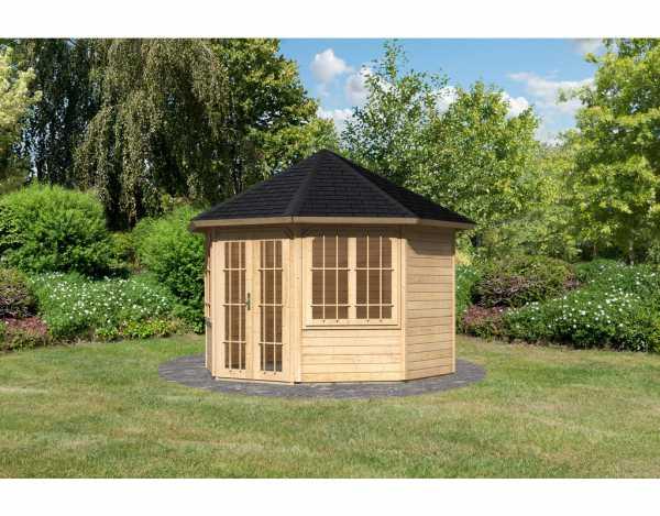 pavillon sparset rom 2 premium 8 eck inkl dachschindeln 8 eckig holzpavillon garten. Black Bedroom Furniture Sets. Home Design Ideas