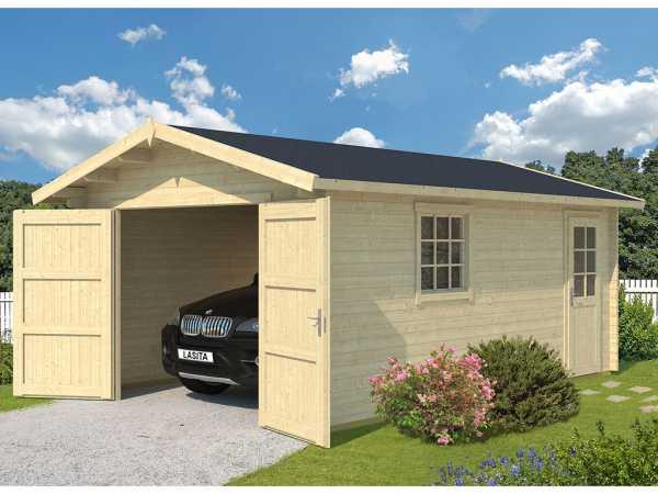 Garage Antigua inkl. Holztor 44 mm naturbelassen