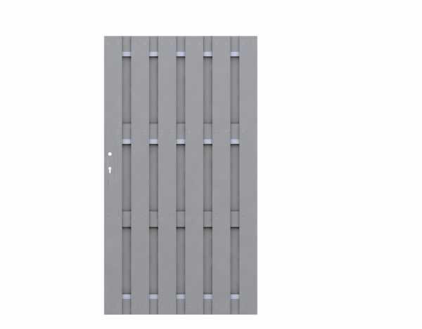 Tor JUMBO WPC Grau-Aluminium