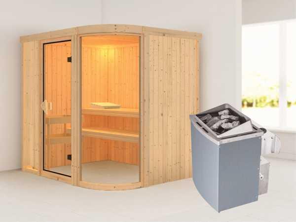"""Sauna Systemsauna """"Parima 2"""" inkl. 9 kW Saunaofen integr. Steuerung"""