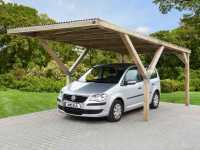 Y-Flachdach Carport ohne Dachplatten