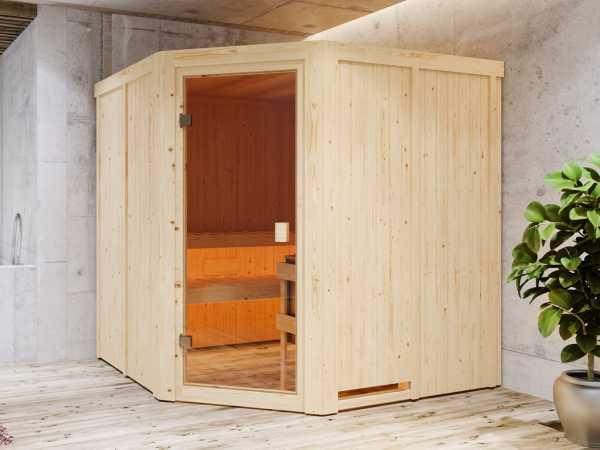 """Sauna Systemsauna SPARSET """"Celine 3"""" inkl. 9 kW Ofen mit integr. Steuerung"""