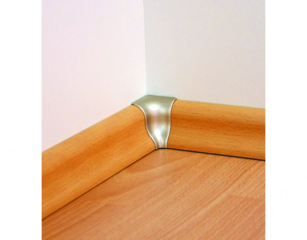 Innenecken für Sockelleisten Profil SKL 20, Silber gebürstet