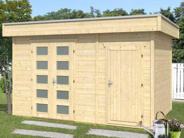 """Blockbohlenhaus """"Venlo 3"""" 28 mm naturbelassen"""