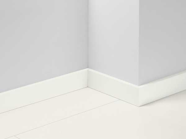 Sockelleiste Uni weiß Glanz Dekor foliert SL18