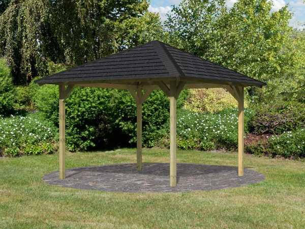 Pavillon Marylin ECO mit schwarzen Schindeln