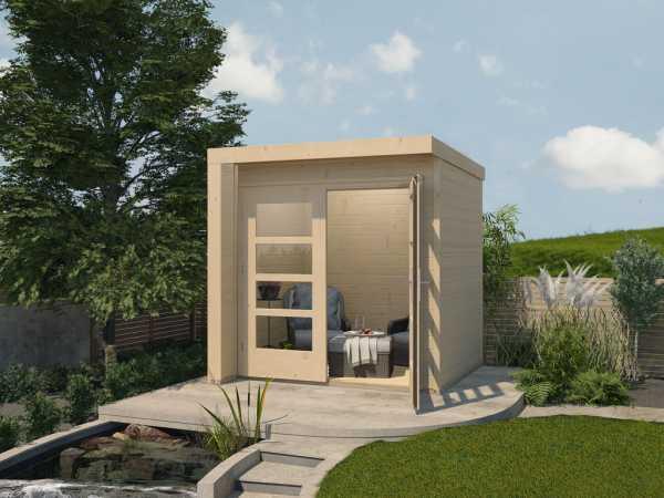 Gartenhaus Designhaus 262 A 21 mm naturbelassen