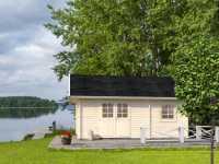 Ferienhaus Blockbohlenhaus Sandra 29,9 m² 44 mm naturbelassen