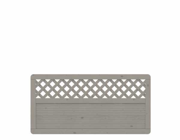 Sichtschutzzaun ARZAGO Rechteck mit Gitter grau