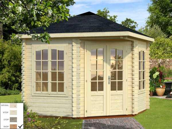 Pavillon Melanie 6,6 m² braun tauchimprägniert