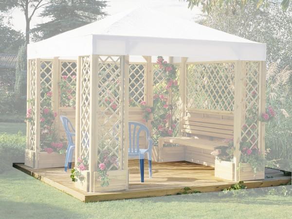 pavillon holzboden bago pavillon zubeh r holzpavillon garten holzprofi24. Black Bedroom Furniture Sets. Home Design Ideas
