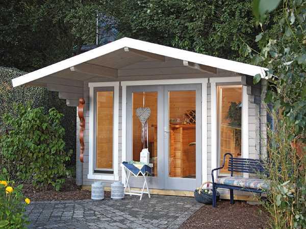 Gartenhaus Blockbohlenhaus Hammerfest 70-F 70 mm naturbelassen