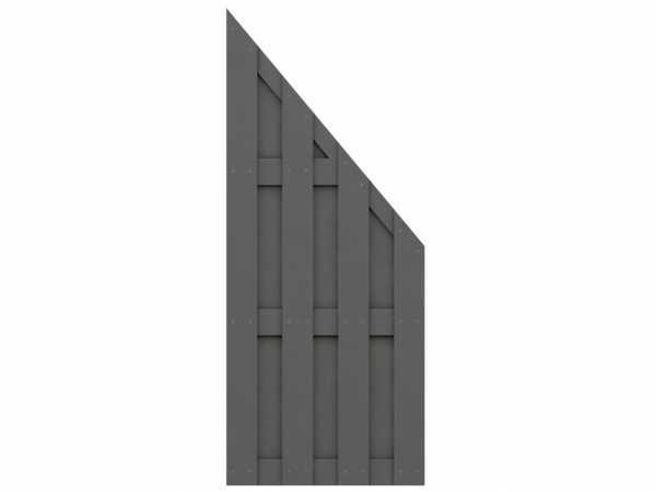 Sichtschutzzaun JUMBO WPC Abschlusselement anthrazit