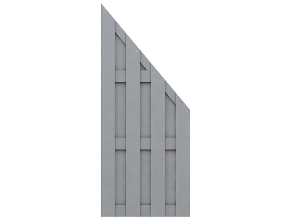 Sichtschutzzaun Jumbo Wpc Abschlusselement Grau Sichtschutzzaune