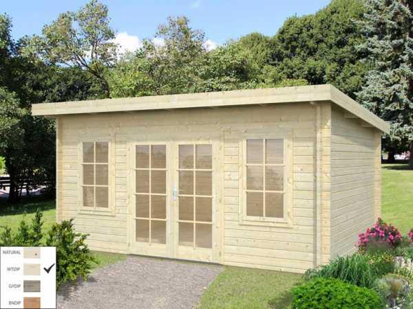 "Gartenhaus Blockbohlenhaus ""Lisa"" 14,2 m² 44 mm transparent tauchimprägniert"