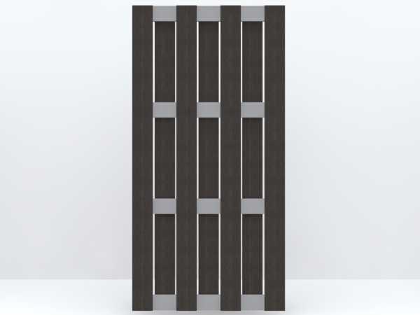 Fertigzaun WPC Halbelement Solid Anthrazit mit Aluminium Querriegeln