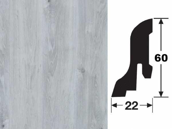 Sockelleiste Eiche hellgrau 2319 Profil 4 K Dekor