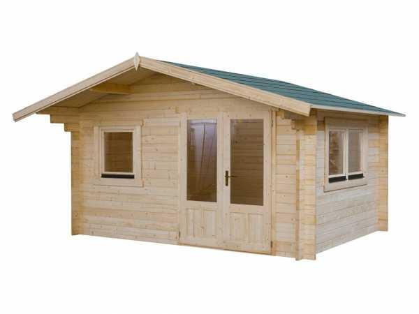 Gartenhaus Blockbohlenhaus 4 x 3 50 mm weiß