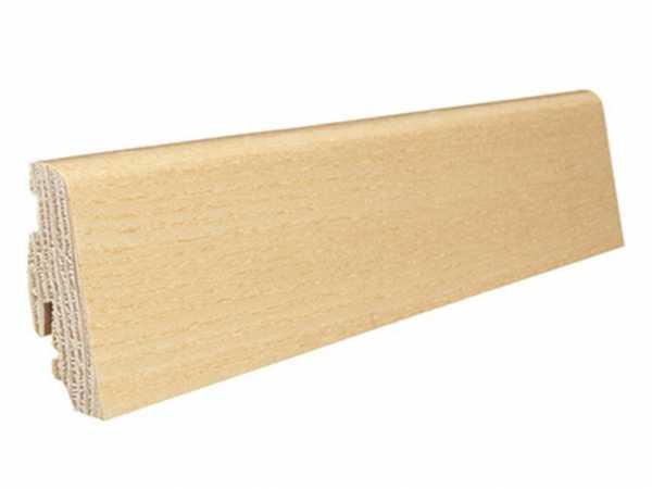 Steck-Sockelleiste Esche furniert, matt versiegelt