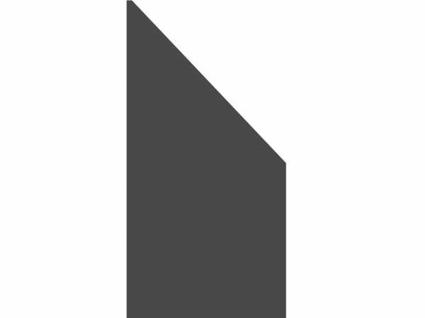 Anschluss-Sichtschutzelement BOARD schiefer