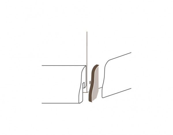 Außenecken Alu-Optik Typ 1 für Sockelleisten SL 4