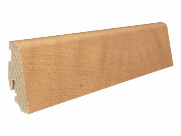 Steck-Sockelleiste Buche gedämpft furniert, geölt