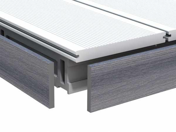 Abschlussprofil DreamDeck WPC Platinum Grau