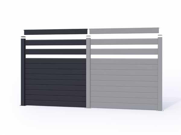 sichtschutzzaun wpc sparset mittel abschlusselement stecksystem sichtschutz gartenzaun. Black Bedroom Furniture Sets. Home Design Ideas