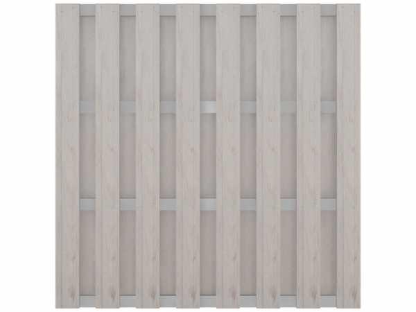 WPC Sichtschutzzaun Solid Bi-Color Weiß mit Alu-Querriegeln