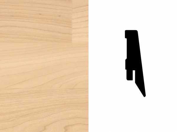 Sockelleiste Ahorn sandbeige Dekor Profil SKL 60