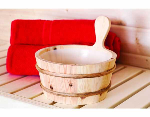 Sauna Aufgußkübel Fichte, 4 Liter