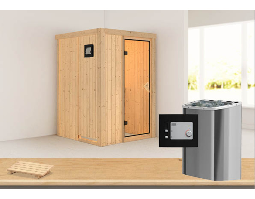sauna systemsauna plug play lenja inkl 3 6 kw. Black Bedroom Furniture Sets. Home Design Ideas